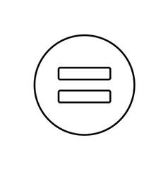 equal equality math icon vector image vector image