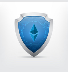 ethereum crypto currency sign vector image