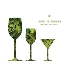 evergreen christmas tree three wine glasses vector image