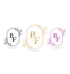 Floral frame for bf initial letter vector