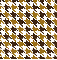 Gold mix hounds tooth seamless pattern vector