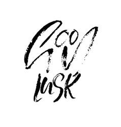 good luck dry brush lettering modern calligraphy vector image