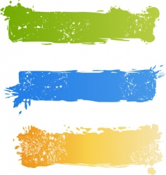 Grunge multicolored banner set vector