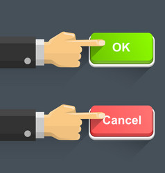 hand pressing electronic switch vector image