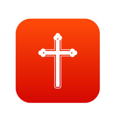 holy cross icon digital red vector image