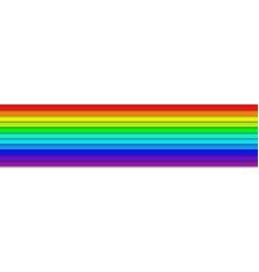 Horizontal rainbow colored stripes - graphic vector