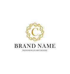 Initial letter c luxury ornament logo design vector