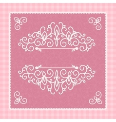 light pink card with a beautiful pattern for vector image