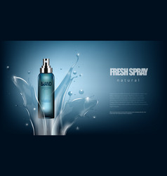 luxury cosmetic fresh spray bottle advertising vector image