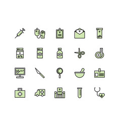 medical equipment icon set vector image