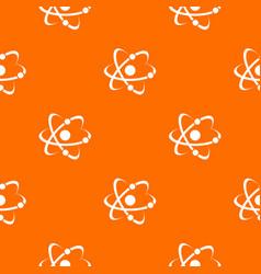 molecule pattern orange vector image