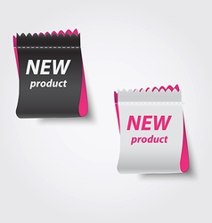 new product label vector image
