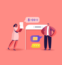online briefing teamwork business characters vector image