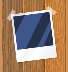 Photo frame on the board vector
