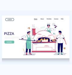 pizza website landing page design template vector image
