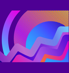 retro futurism background modern trend gradient vector image