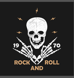 rock-n-roll grunge typography for t-shirt clothes vector image
