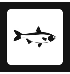 Salmon fish icon simple style vector