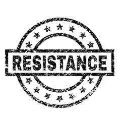 Scratched textured resistance stamp seal vector