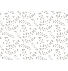 seamless pattern windflower pickpurse vector image