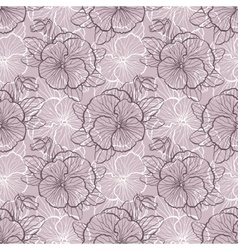 Seamless pattern with pansy vector image