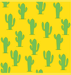 Seamless pattern with tropical cactus vector