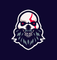 skull logo vector image