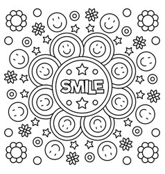 Smiling coloring pages ~ Quotes Coloring Pages Vector Images (over 440)