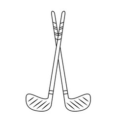 sport golf clubs vector image