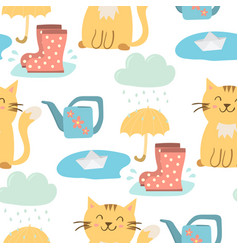 Spring natural clouds rain weather vector