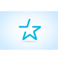 Star logo icon leader boss vector image