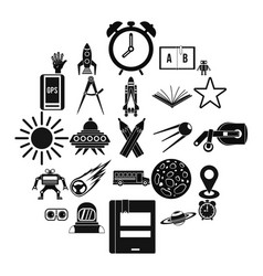 stargazing icons set simple style vector image