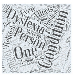 The Essentials On Adult Dyslexia Word Cloud vector