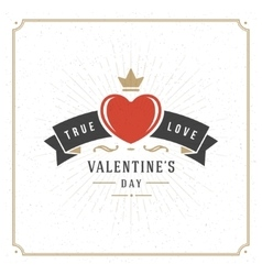 Valentines Day Greeting Card or Poster vector image