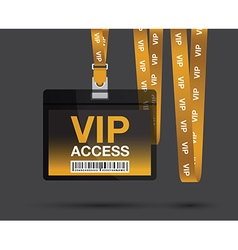 Vip access lanyards vector