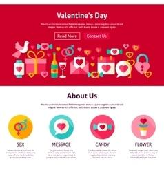 Web Design Valentine Day vector image