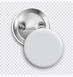 White blank badge round button pin button vector
