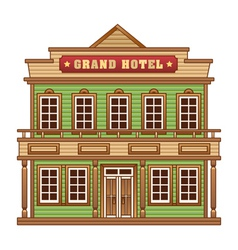 Wild West grand hotel vector image
