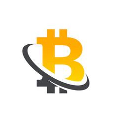 bitcoin logo icon vector image