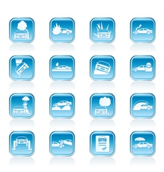 car and transportation icons vector image vector image