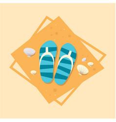 flip flops icon summer sea vacation concept vector image vector image