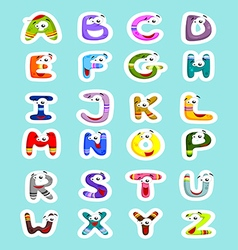 Funny letters vector image vector image