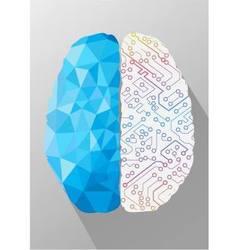 Human brain on creative concept vector image