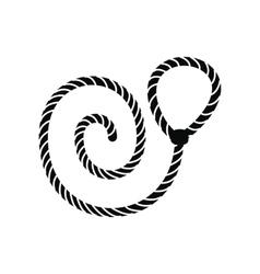 Lasso black simple icon vector