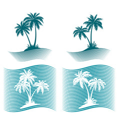 pictograms palms silhouettes vector image
