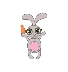 Toy Rabbit With Carrot vector image