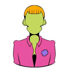 zombie icon cartoon vector image