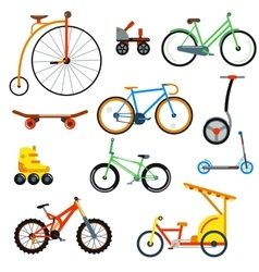 Bicycle flat style isolated on white background vector image
