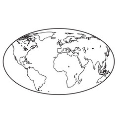 globe contour icon vector image vector image