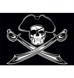 piracy skull vector image vector image
